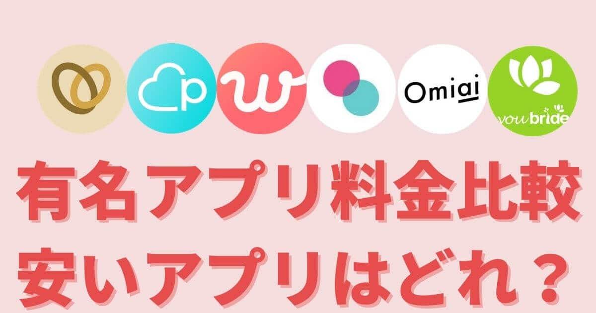 【初心者男性向け】有名マッチングアプリ6つを料金比較!最安値は?